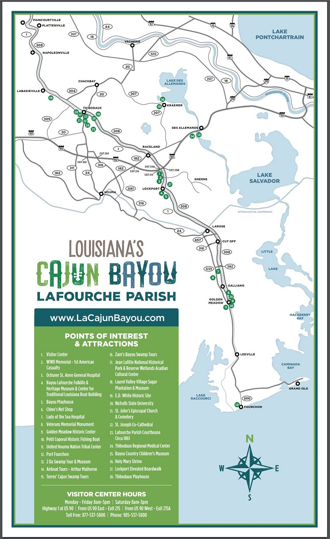 Louisiana Bayou Map